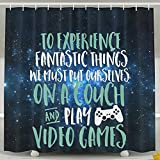 HUANGLING Video Games Geek And Gamer Shower Curtain 60x72inch