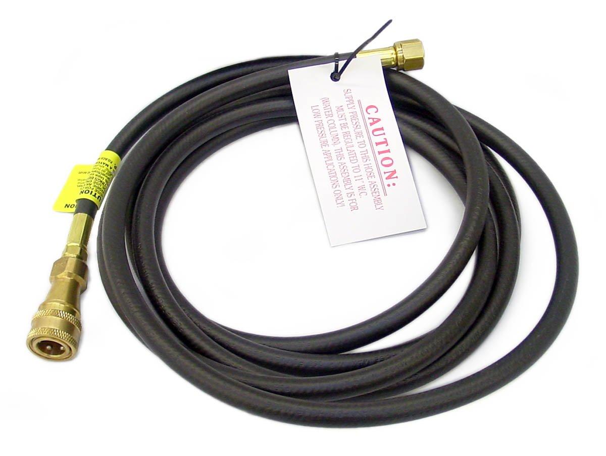 Mr. Heater 16112828416B Big/Tough Buddy 12-Feet RV Hose, Quick Connect x 3/8-Inch Female Flare Thread F271802