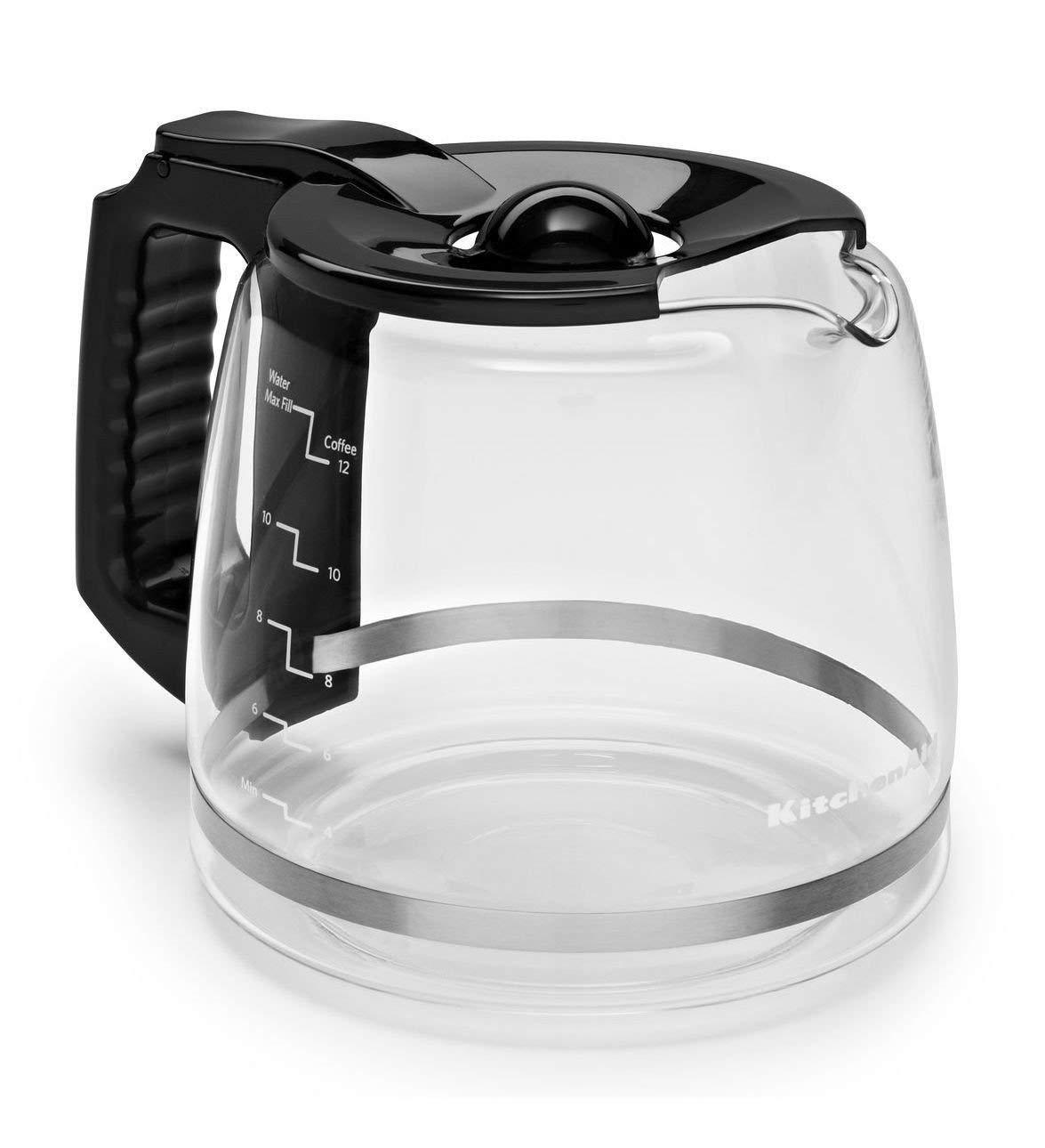 Happy-shoP KHY Replacement 12-Cup Glass Black for KitchenAid Onyx Carafe KCM11GC KCM-111 KCM111OB
