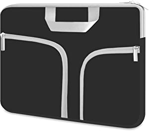 Chromebook Case, HESTECH 11.6-12.5 Inch Neoprene Laptop Sleeve Travel Bag with Handle Compatible for Acer Chromebook r11/HP Stream/Samsung Chromebook/MacBook air 11/, Black