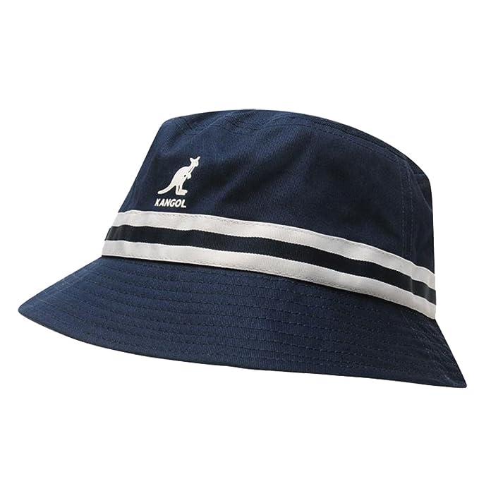 Kangol. Mens Stripe Bucket Hat Stitched Rim  Amazon.co.uk  Clothing 02e131867c6e