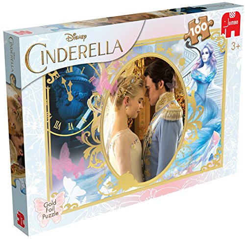 Jumbo Games Disney Cinderella Foil Jigsaw Puzzle (100-piece, Gold) - Cinderella Jigsaw