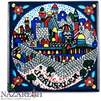 Holy Land Souvenir Jerusalem Town Ceramic Fridge Magnet 3