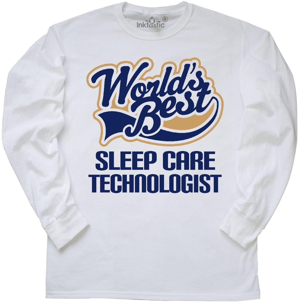 Amazon.com: inktastic Worlds Best Sleep Care Technologist Long Sleeve T-Shirt: Clothing