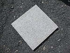 Placas de granito gris claro, formato 40x 40cm, grosor: 3cm, superficie, vetado (antideslizante), gris