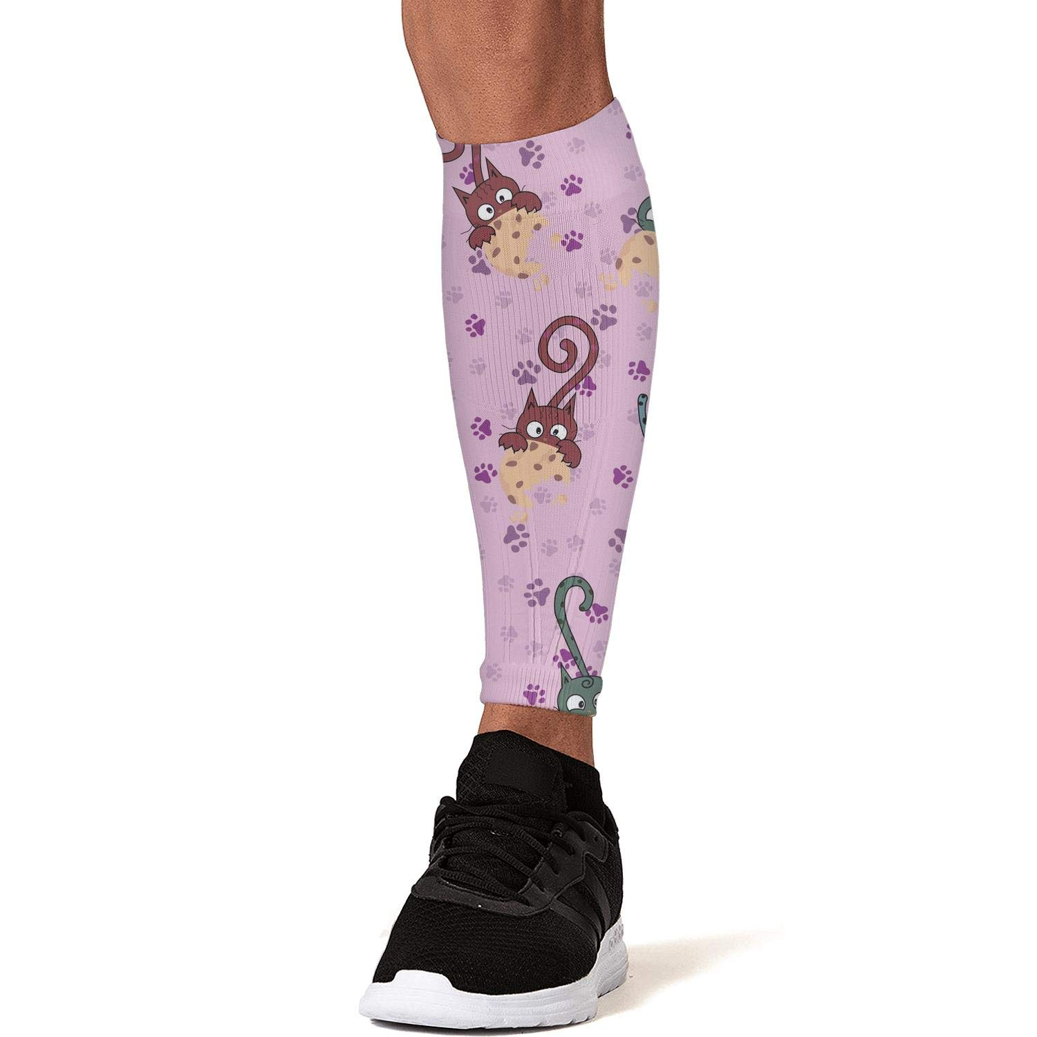 Smilelolly novelty kitty cats Calf Compression Sleeves Helps Shin Splint Leg Sleeves for Men Women