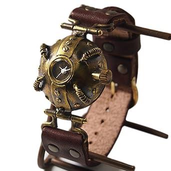 "6d17ad93c2 Amazon | (ケーエス) KS篠原康治手作り腕時計 ""Lost Future-ROUND TRIP""(受注制作)イエロー[KS-LF-06] |  国内メーカー | 腕時計 通販"