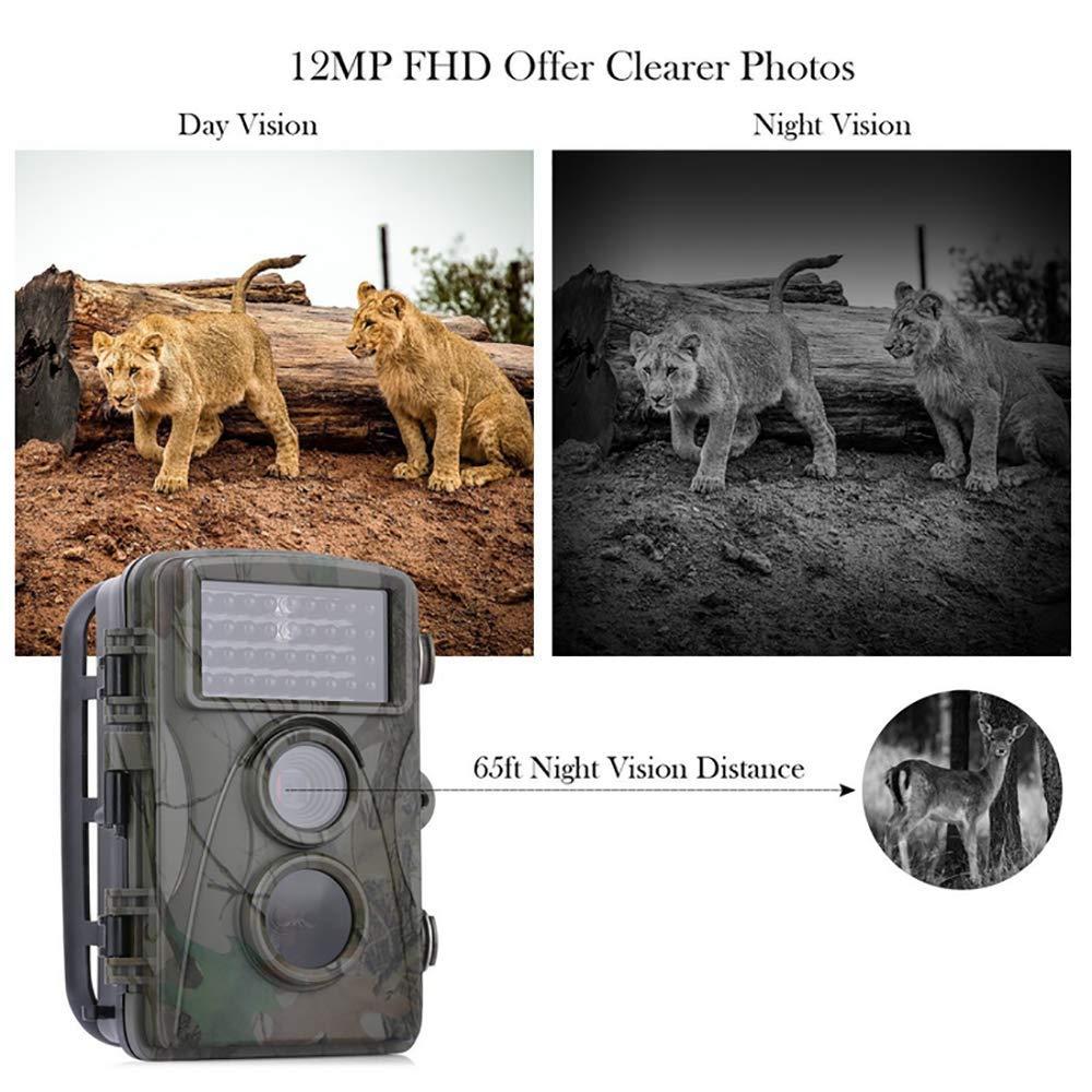 Hunting Camera H901 HD 12MP Vida Silvestre Trail Caza Cámara Visión Nocturna Sensor Impermeable Foto Trampa Observación Grabadora Cámaras De Vigilancia: ...
