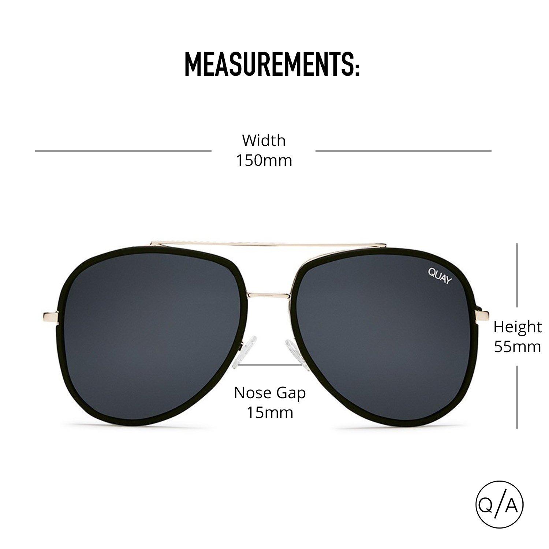 8ea3d92c59 Amazon.com  Quay Australia NEEDING FAME Women s Sunglasses Bold Aviator -  Black Smoke  Quay  Clothing