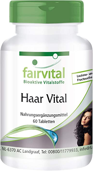 Vitaminas para el cabello - Levadura de cerveza + Zinc + Biotina + Proteína de soja y más - Hair Vitamins - Dosis elevada - 60 Comprimidos - Calidad ...