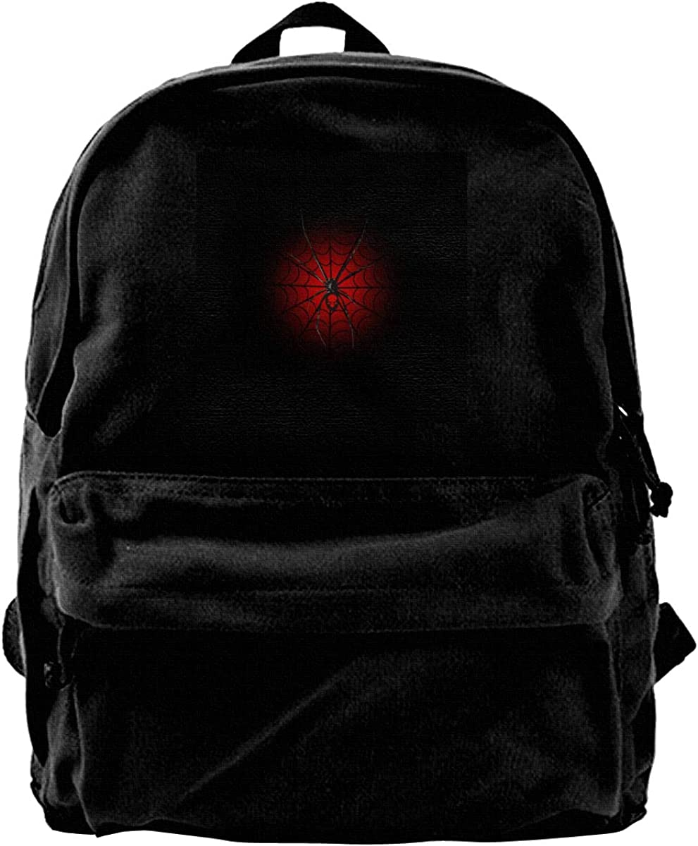 MIJUGGH Canvas Backpack Black Widow Spider Rucksack Gym Hiking Laptop Shoulder Bag Daypack for Men Women