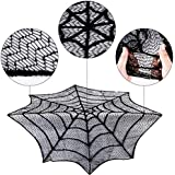 BranXin(TM) Halloween Table Cloth Sp id er Web Black Lace Round 30inch Tablecloth For Halloween Decoration Party Supplies Home Textile