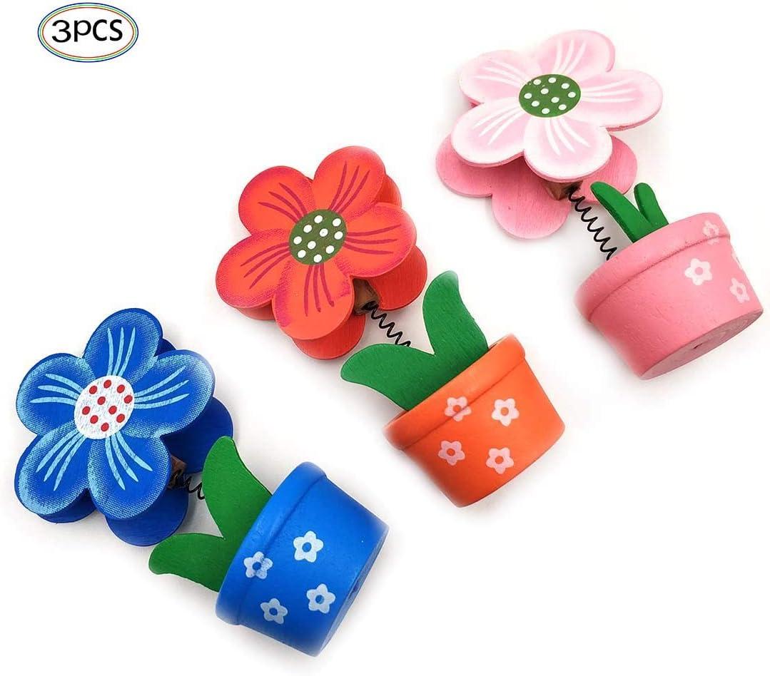 per scrivania scuola ufficio casa memo 3 pezzi matrimonio a forma di fiore Porta appunti in legno con clip ristorante