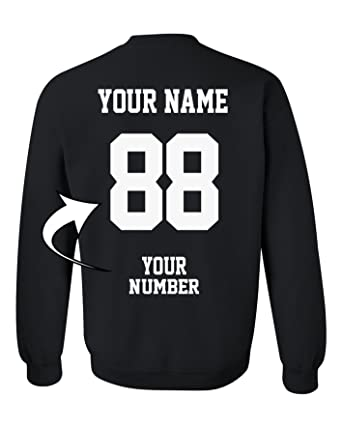 48cbf5c809d1 Design Your Own Sweater - ADD Your Name Number - Custom Jersey Team  Sweatshirts