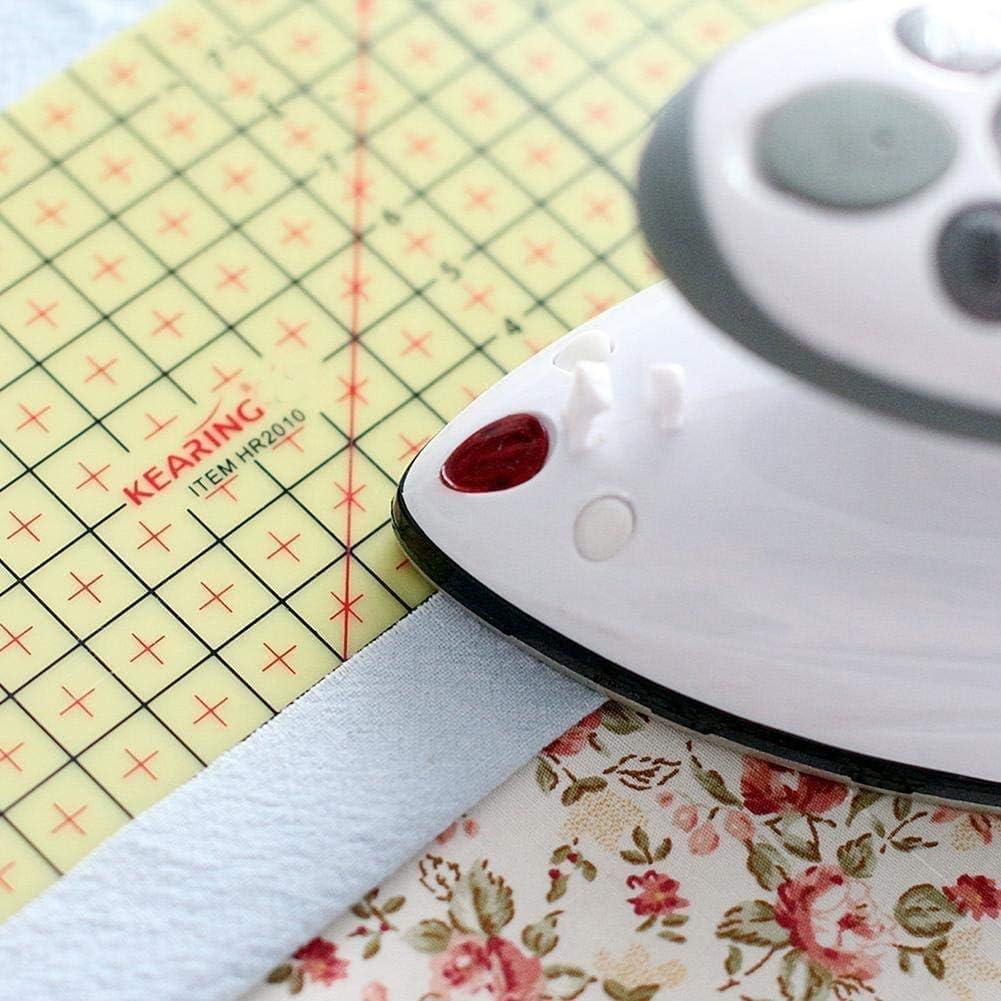 Kampo 2 PCS Hot Ironing Measuring Ruler,High Temperature Resistance Ironing Iron Rule DIY Sewing Supplies Measuring Handmade Tool