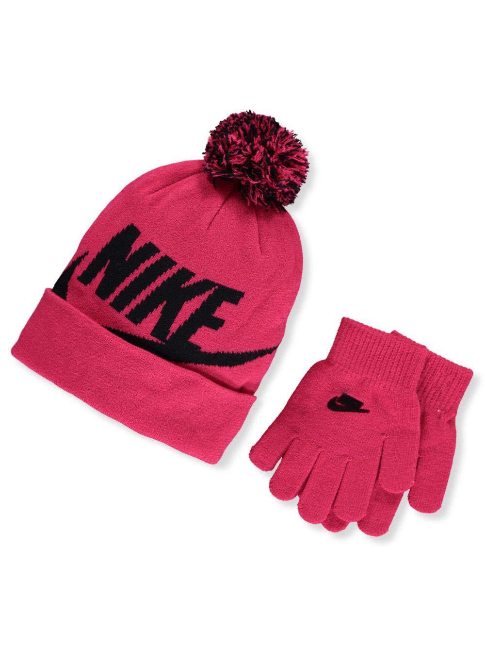 Nike Girls' Hat & Gloves Set (Youth One Size)