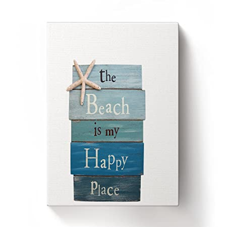 crystal emotion beach themed the beach is my happy place plank