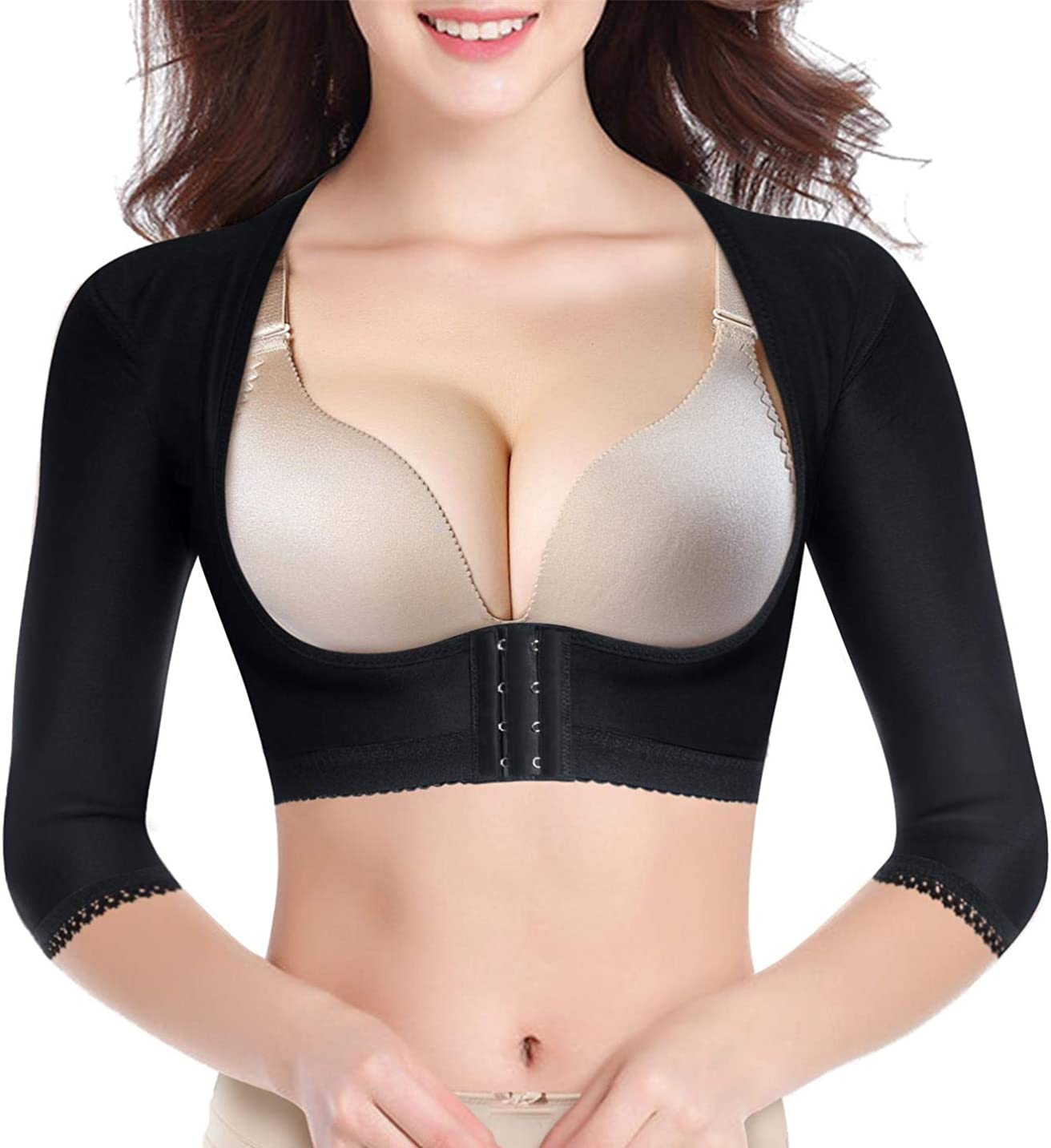 BRABIC Upper Arm Shaper Post Surgical Slimmer Compression Sleeves Humpback Posture Corrector Tops Shapewear for Women