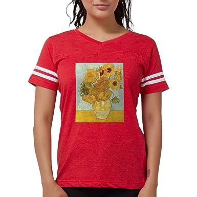 afdba4feb Amazon.com: CafePress Van Gogh Sunflowers T-Shirt - Womens Football ...