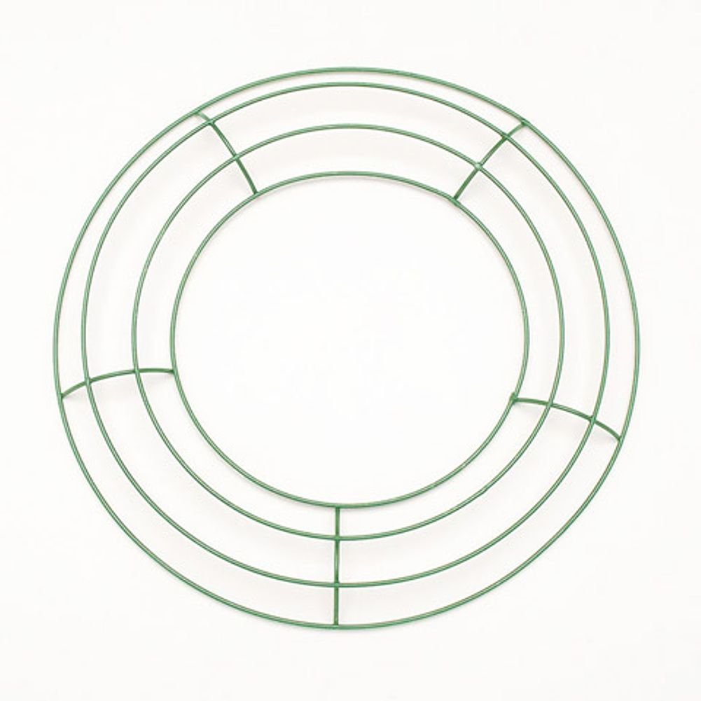 Amazon.com: Metal Wreath Form - Green - 10 inches - 1 Piece: Home ...