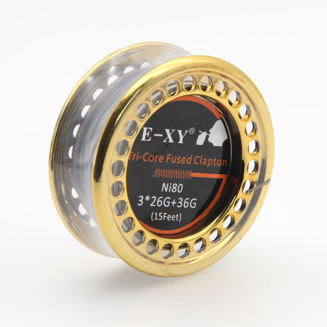 Fused Clapton Wire Ni80 5m/Spool Double/Tri/Four Heating Wire Coil DIY  Coils 15ft (Tri-Core)