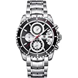 Mens Watches BENYAR Fashion Business Quartz Waterproof Watch-Silicone Watch Date Display
