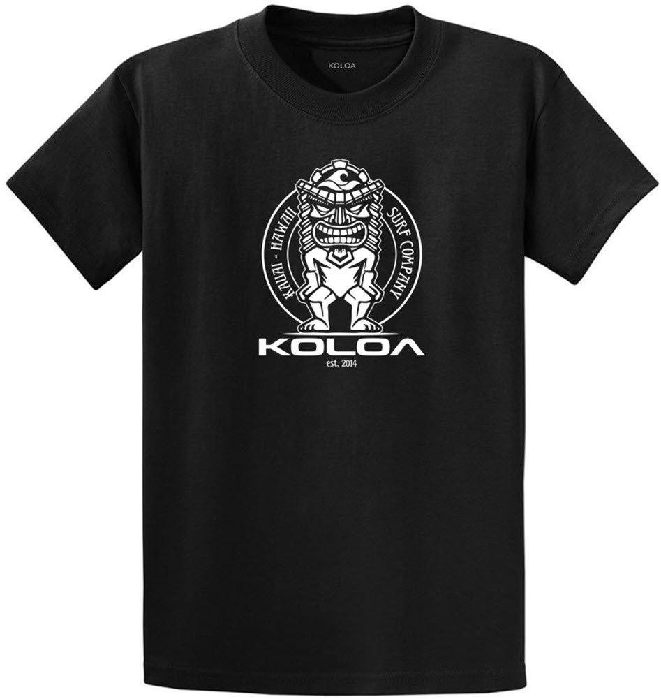 (コロア) Koloa サーフティキのロゴコットンTシャツ レギュラー ビッグ トールサイズ B01MRA77PP Tall 3X-Large 3XLT (50-53)|Black White Logo Black White Logo Tall 3X-Large 3XLT (50-53)