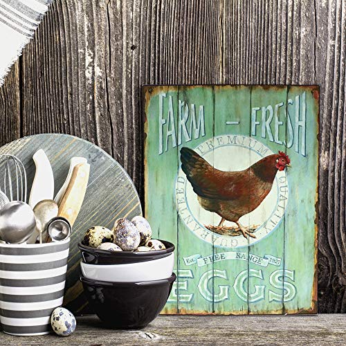 Farm Fresh Eggs Retro Vintage Tin Sign