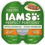 Iams Optimal Metabolism Grain Free Wet Cat Food, Chicken Pate, 2.6 oz. (24 Twin Packs)