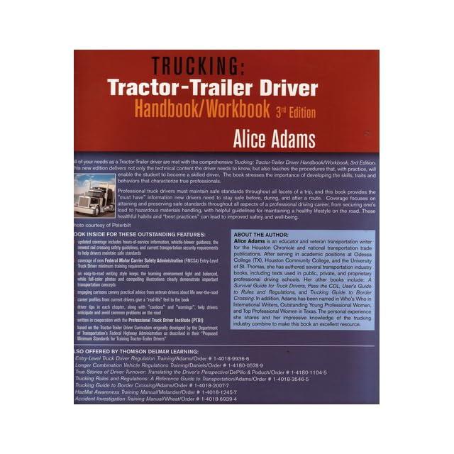 Trucking Tractor Trailer Driver Handbook/Workbook