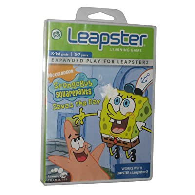 LeapFrog Leapster Learning Game Spongebob Squarepants Saves The Day: Toys & Games