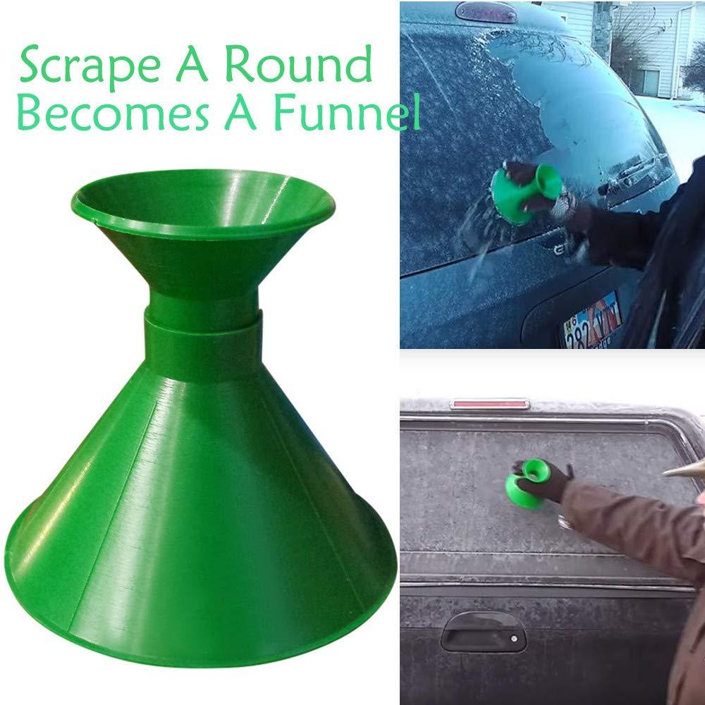 MALLOOM Scrape A Round Magic Cone-Shaped Windshield Ice Scraper Snow Shovel Tool Car Windshield Snow Removal (Green) by MALLOOM (Image #2)