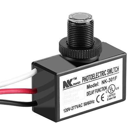 120-277v dusk to dawn sensor photoelectric switch light photocell sensor  lighting switch - - amazon com