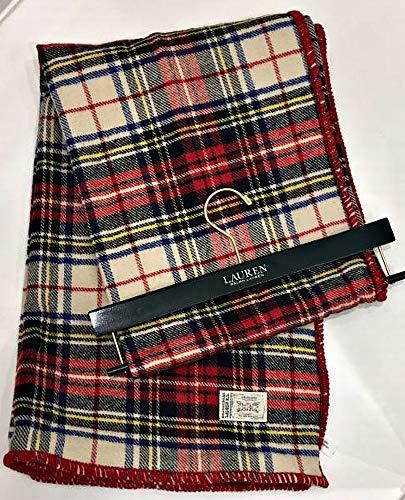 Lauren Ralph Lauren Royal Stewart Tartan Plaid Throw Blanket Jete Colcha | 54