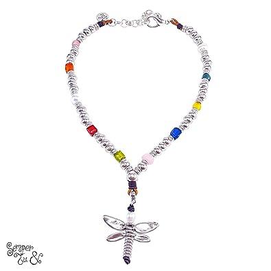 88ad1ca0c0e3 Collar Mujer   Semper Tu baño en PLATA 15 MICRAS   Collares de Diseño  últimas tendencias   Perlas cultivadas  Amazon.es  Joyería