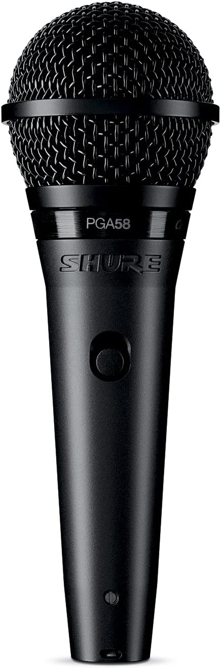 Shure PGA58 Micrófono dinámico cardioide para voz con cable XLR a XLR