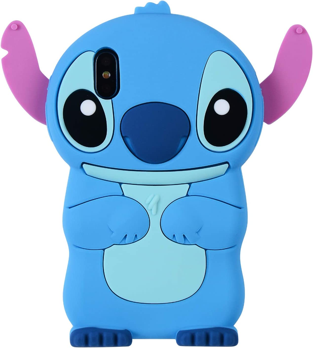Blue Stch Case for iPhone X/iPhone Xs 5.8 inch, 3D Cartoon Animal Cute Soft Silicone Rubber Protective Cover,Kawaii Animated Stylish Fashion Cool Skin Shell for Kids Child Teens Girls (iPhoneXS/X)