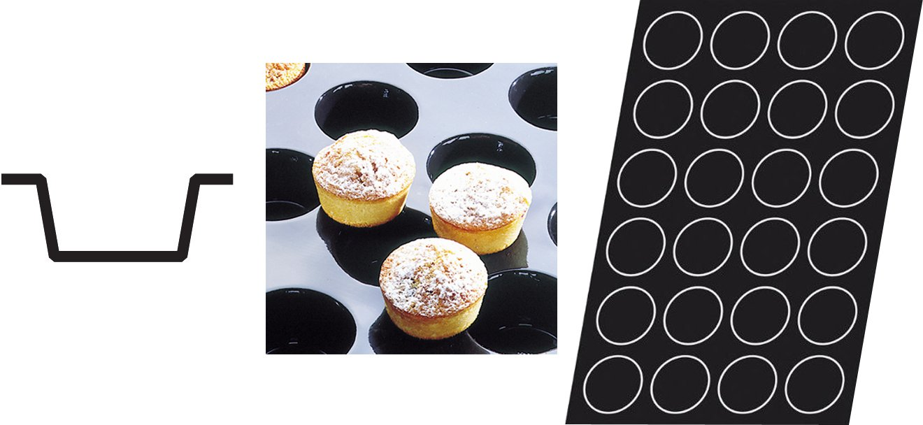 Flexipan 336019 Muffin Nonstick Sheet Mold