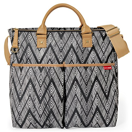 Skip Hop Messenger Diaper Bag with Matching Changing Pad, Duo Signature, Zig Zag ()