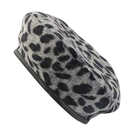 e74030bcd3a5e Image Unavailable. Image not available for. Color  HeroStore Fashion Wool  Leopard Cap ...