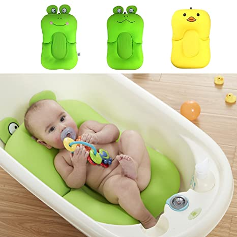 Colchoneta flotador para bañera de bebé, antideslizante, suave, ideal para niños de 0