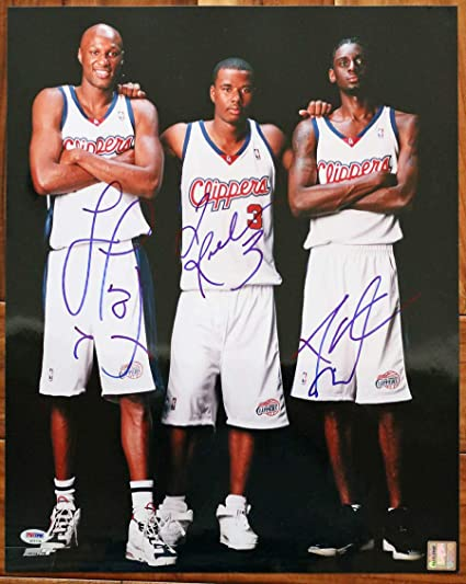 d98004aa4a70 Image Unavailable. Image not available for. Color  Lamar Odom Quentin  Richardson Darius Miles Autographed Signed Memorabilia ...