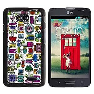 Be Good Phone Accessory // Dura Cáscara cubierta Protectora Caso Carcasa Funda de Protección para LG Optimus L70 / LS620 / D325 / MS323 // Hand Drawn Colorful Minimalist