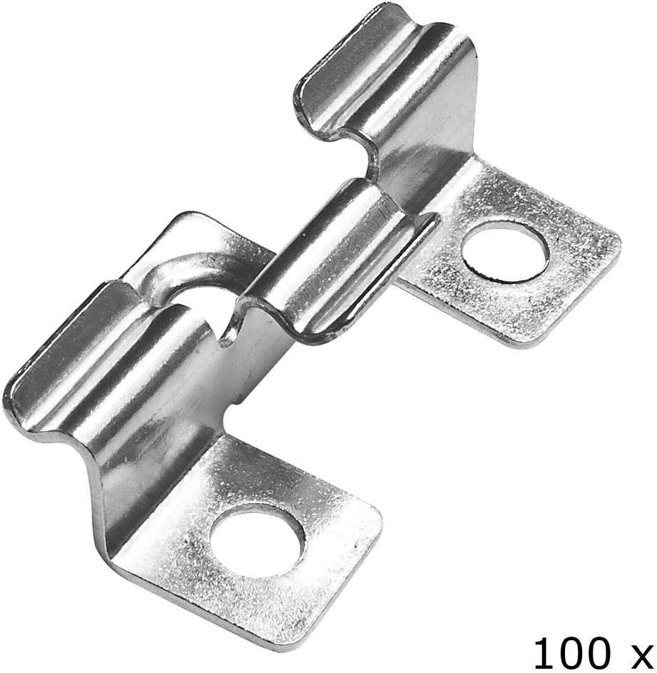 V2Aox 100 Edelstahl Clips Terrassenclip Befestigungsklammern Terrassendielen 6 mm