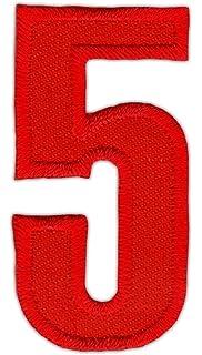 Números para planchar por transferencia de calor en camisetas deportivas, rojos: Amazon.es: Juguetes y juegos