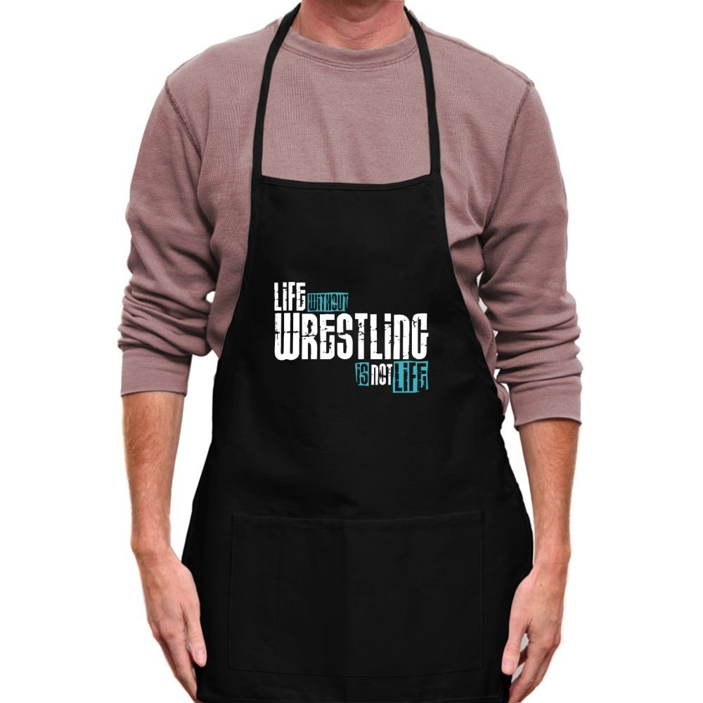 Teeburon LIFE WITHOUT Wrestling IS NOT LIFE ! Apron by Teeburon