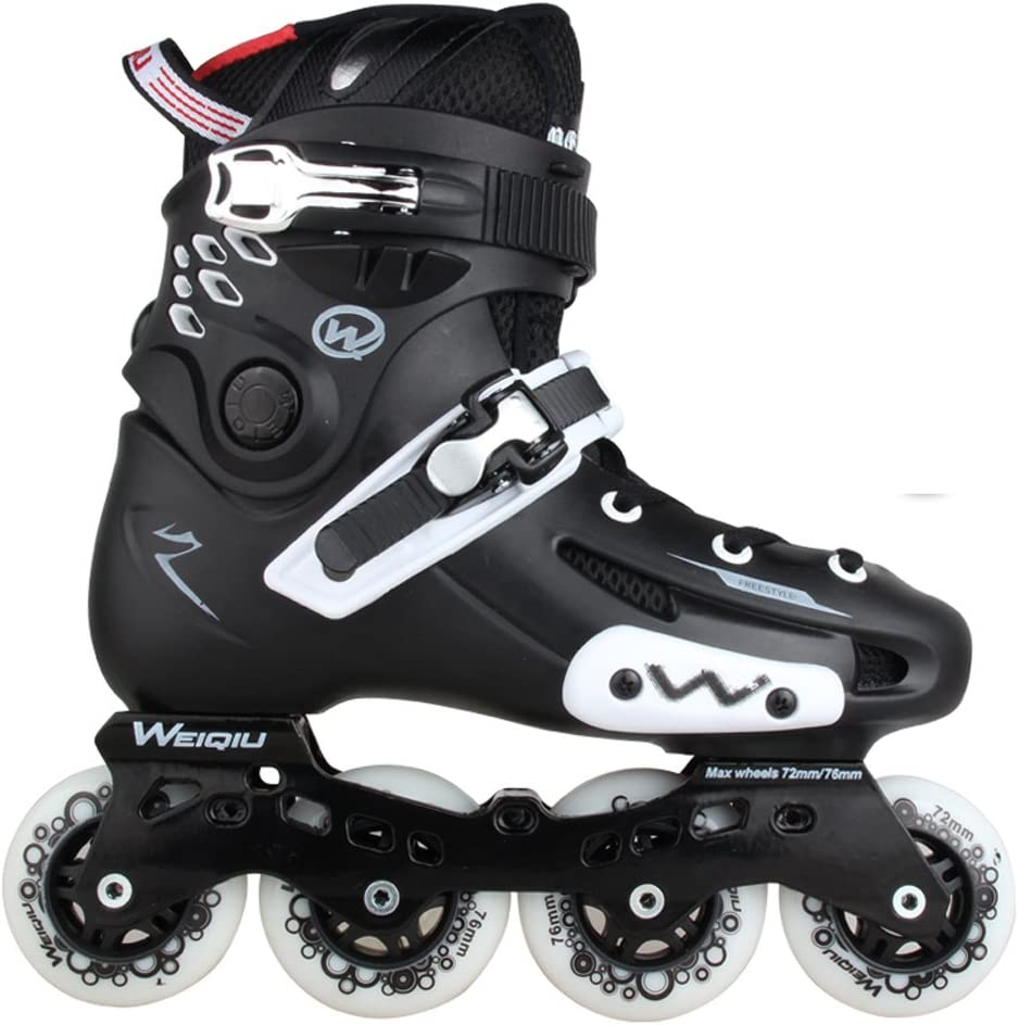 Vampsky レトロアイススケートインラインスケートメンズブラックローラースケートシングルラインスケートシューズレーシングスケート屋外スポーツアーバンユース、ユニセックス子供
