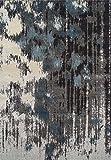 Super Area Rugs Blue Rug Modern Southwestern Design 5′ 3″ X 7′ 7″ Soft Ikat Carpet For Sale