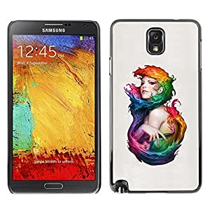 GagaDesign Phone Accessories: Hard Case Cover for Samsung Galaxy Note 3 - Colorful Woman