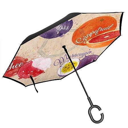 Csiemns Figs, Pomelo, Lychee invertido Paraguas invertido al ...